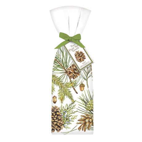 Pine Cone Tea Towels: Set of Two