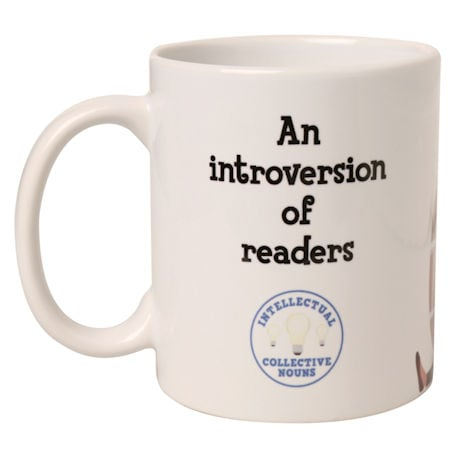 Intellectual Collective Noun Mugs: An Introversion of Readers