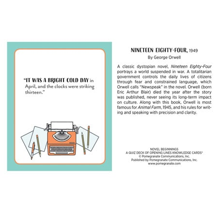 Novel Beginnings Knowledge Cards