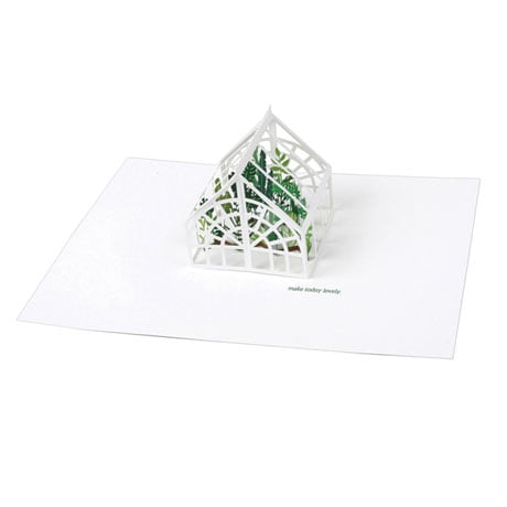 Pop-Up Greenhouse Greeting Card