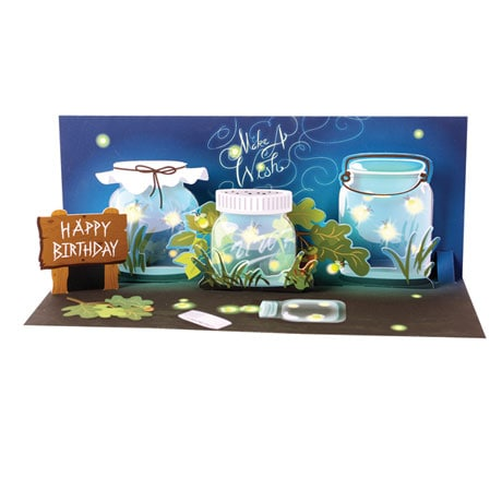 Fireflies Light-Up Pop-Up Birthday Greeting Card
