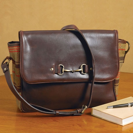 Leather and Tweed Satchel