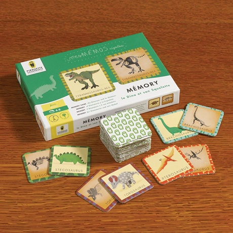 The Dinosaur and Its Skeleton Memory Game