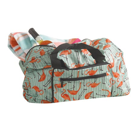 Holdall Foldable Tote Bags - Flamingos