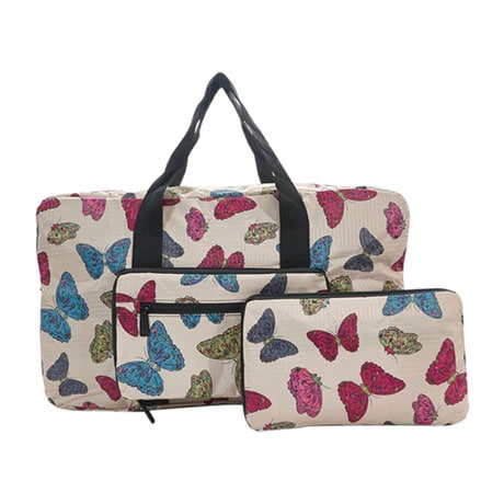 Holdall Foldable Tote Bags - Butterflies