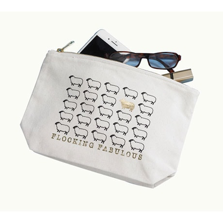 Flocking Fabulous Zip Pouch