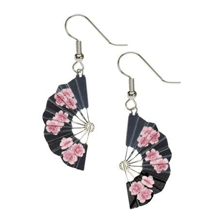 Hiroshige Blossom Fan Earrings