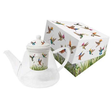 Meadow Buzz Glass Tea Pot