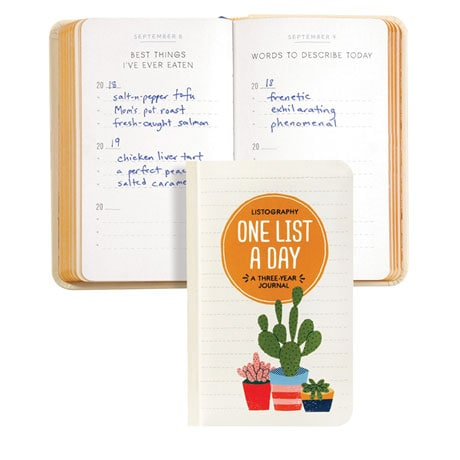 One List a Day: A Three-Year Journal
