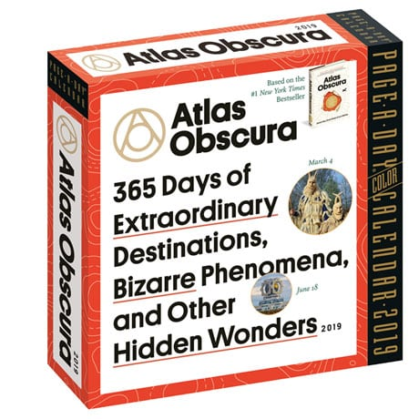 2019 Atlas Obscura Page-a-Day Calendar: 365 Days of Extraordinary Destinations, Bizarre Phenomena, and Other Hidden Wonders