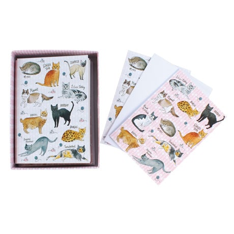 Curious Cats Pen & Note Cards