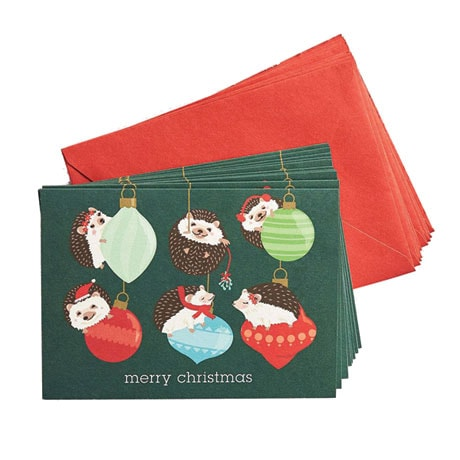 Holiday Hedgehogs Boxed Cards