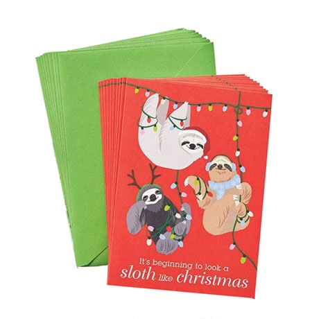 Holiday Sloth Boxed Cards