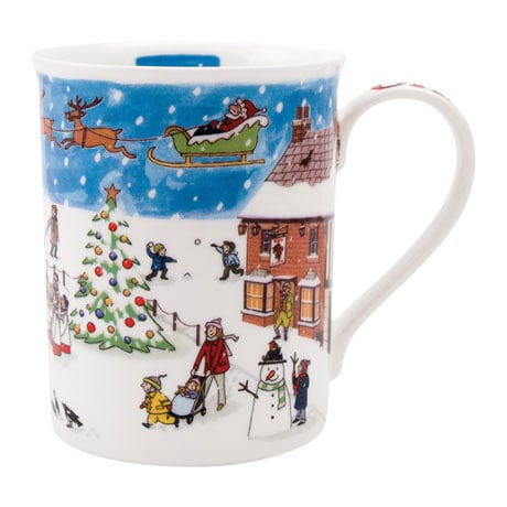 English Village Christmas Mug