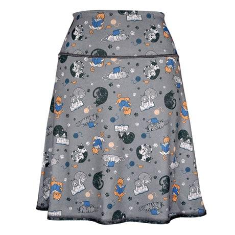 Reading Kitties Reversible Skirt