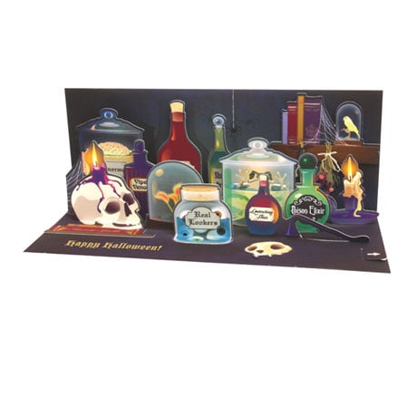 Spooky Apothecary Pop-Up Halloween Greeting Card