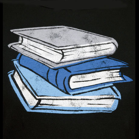 Stack of Books Top (black)