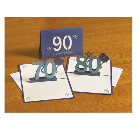 Pop Up 80th Birthday Card