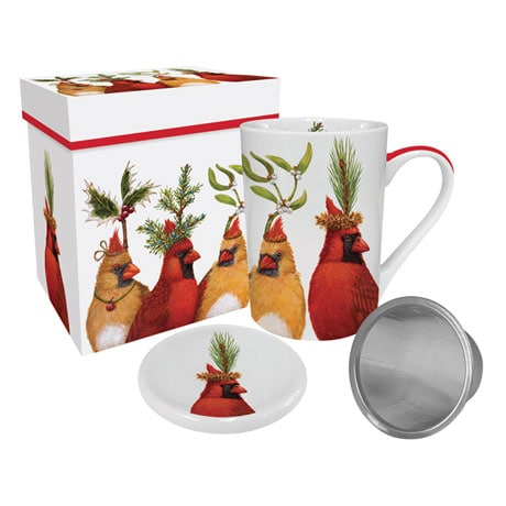 Holiday Party Tea Infuser Mug