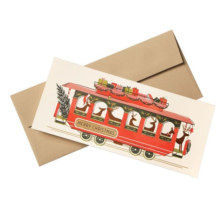 Reindeer Trolley Cards