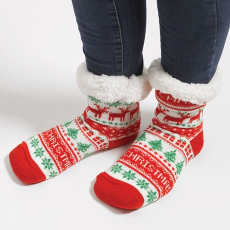 Christmas Sweater Slipper Socks
