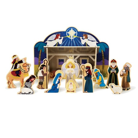 Wooden Nativity Play Set