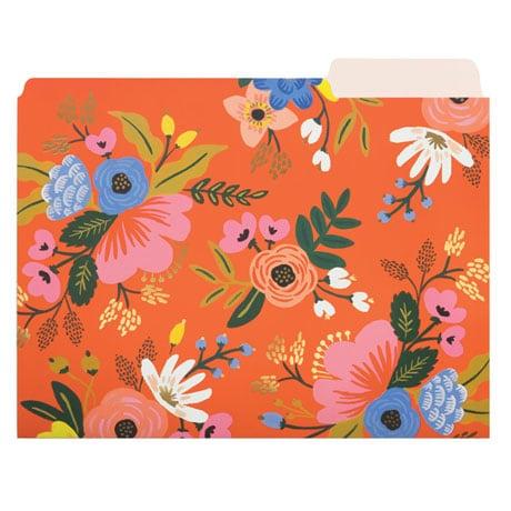 Floral File Folders
