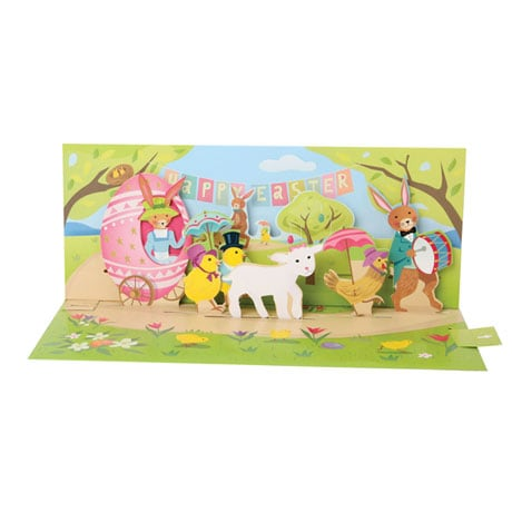 Easter Parade Pop-Up Greeting Card