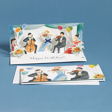 Classical Music Pop-Up Birthday Card