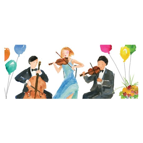 Classical Music Pop-Up Birthday Greeting Card