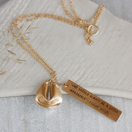 Fortune Cookie Necklace - 14k Gold