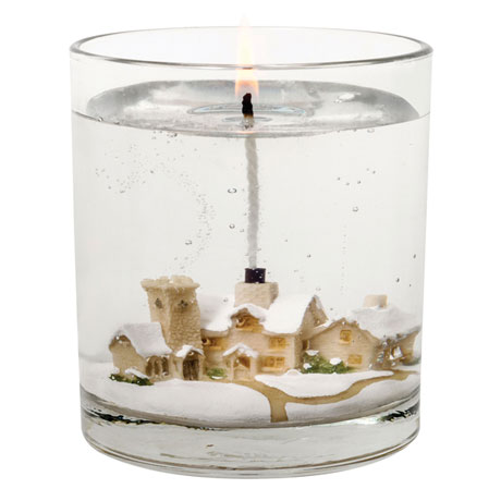 Snow Scene Candle