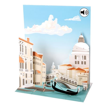 Venice Musical Pop-Up Greeting Card