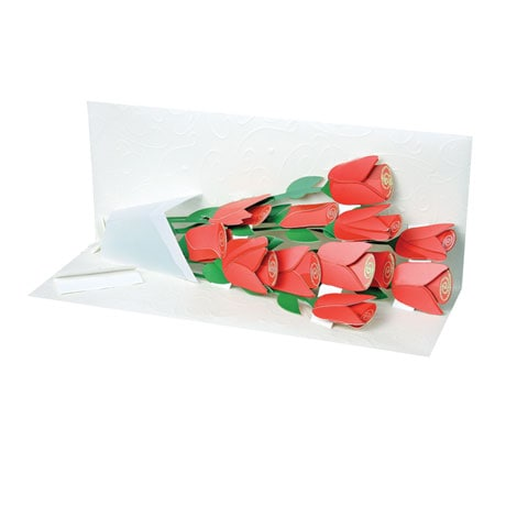 Rose Bouquet Pop-Up Flowers Greeting Card