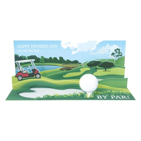 Fore! Father's Day Audio Pop-Up Greeting Card