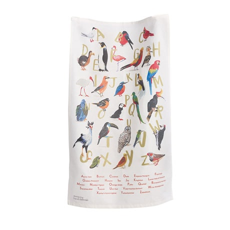 Alphabet Bird Towel
