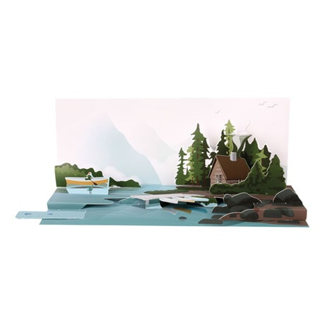 Lake Canoe Audio Pop-Up Card