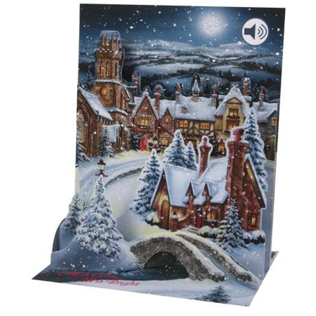 Midnight Village Musical Pop-Up Card