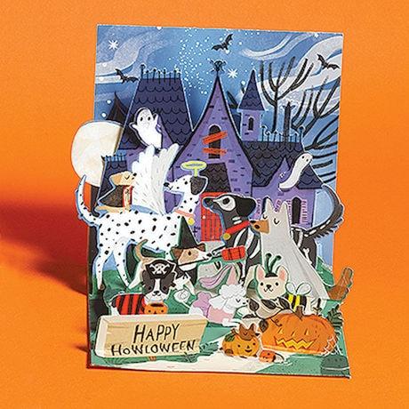 Happy Howl-oween Dogs Pop-Up Card