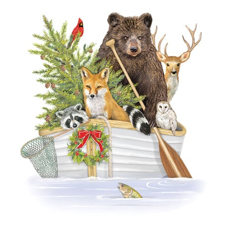 Over the River and Through the Woods Christmas Cards