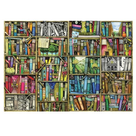 Bookshelf Wooden Puzzles - 250 piece