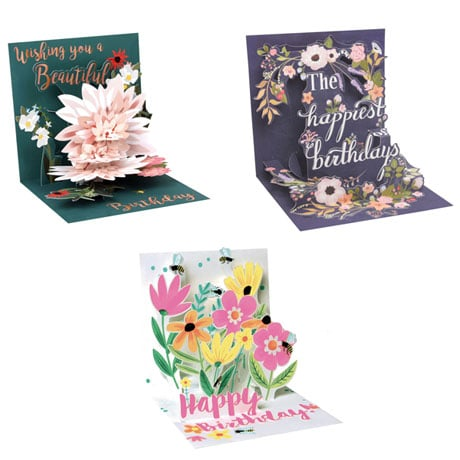 Floral Pop-Up Birthday Cards