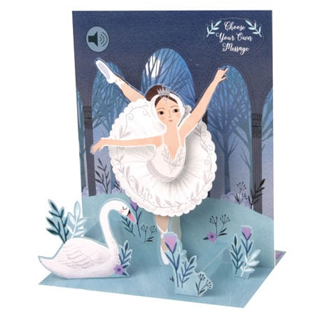 Swan Lake Musical Pop-Up Card