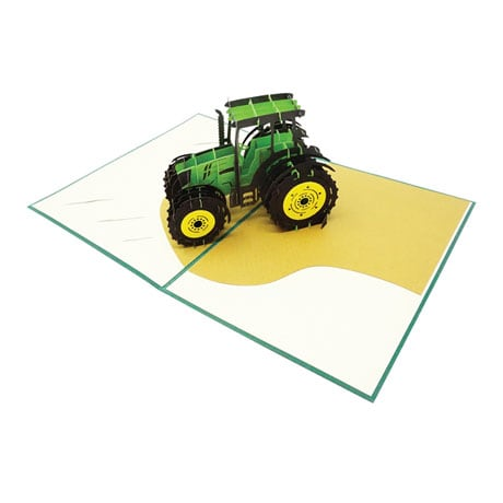 Tractor Pop-Up Card