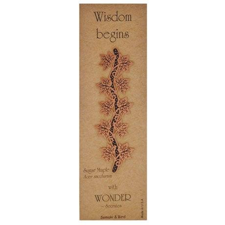 Botanical Philosophy Metal Bookmarks - Sugar Maple