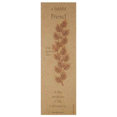 Botanical Philosophy Metal Bookmarks - Oak
