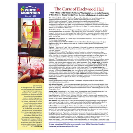 The Curse of Blackwood Hall Mystery Puzzle