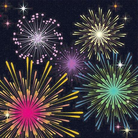 Fireworks Lighted Pop-Up Card