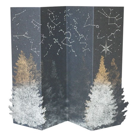 Night Forest Laser-Cut Card
