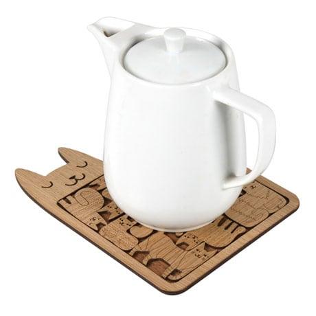 Happy Cats Wooden Puzzle Tea Tray